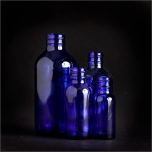 2 oz. Blue Glass Bottle