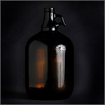 One Gallon Amber Jug