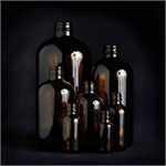 1/2 oz. Amber Glass Bottles