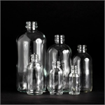 1/2 oz. Clear Glass Bottles