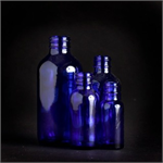 1/2 oz. Blue Glass Bottles