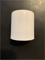 White Ribbed Roll On Cap